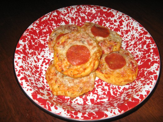 Kids love these easy mini pizzas.