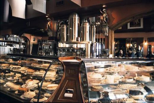 Cafe Intermezzo's exquisite bakery counter