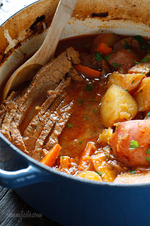 Braised Brisket with Potato and Carrot
