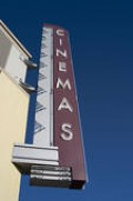 Our walk-in theater didn't have a big marquee like this.