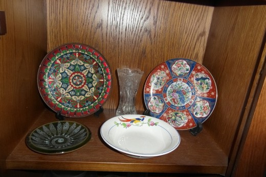 decorative items bought very cheaply at auction.