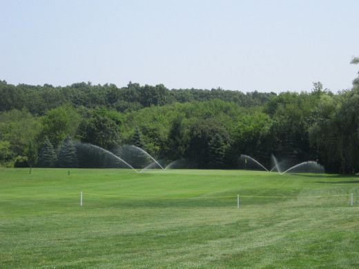 Irrigation keeps the grass green at Middlebrook Country Club and Golf Course!