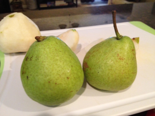 Pears fresh from the tree