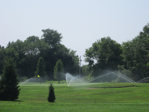 Irrigation keeps the course in perfect shape!