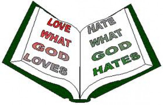 Proper hate contrasts with the  fleshly work of hatred because hate coming from fleshly desire is not the result of standing for right in love. Proper hate is commanded by God and directed at sin.