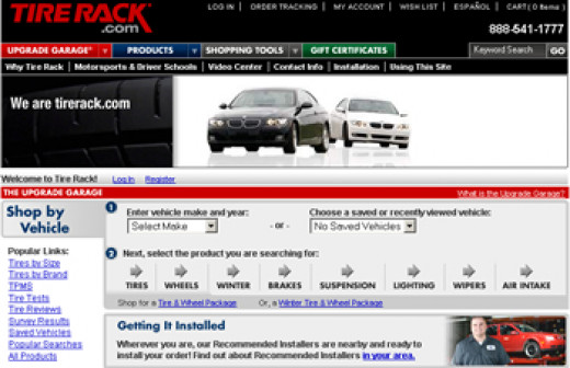 Online tire buying sites like www.tirerack.com put you into control of the tire buying process!