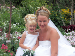 Daughter and her Neice at wedding