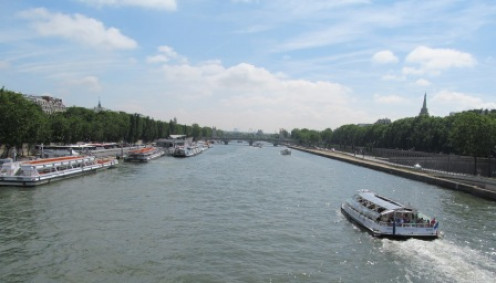 A view of the Seine river in Paris.