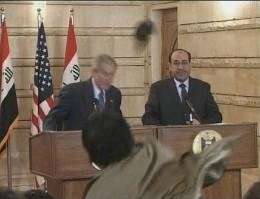 President Bush ducks