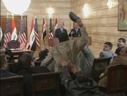 Iraqi journalist targetting Bush