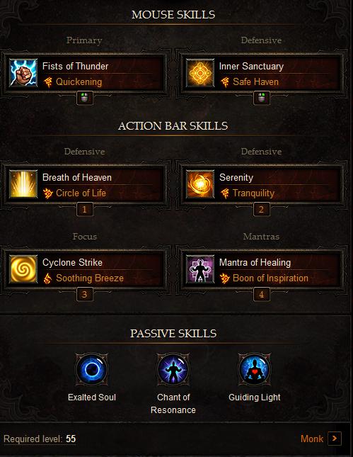 Healer/Support Monk Build