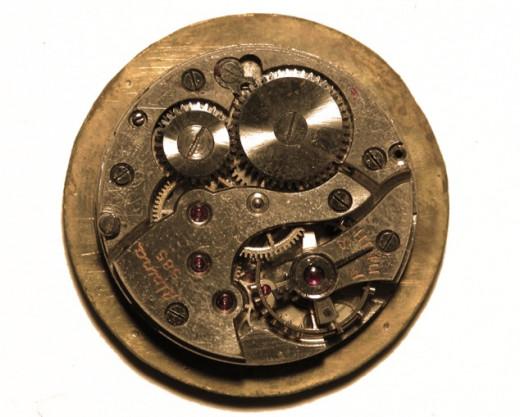 Gears in a mechanical watch