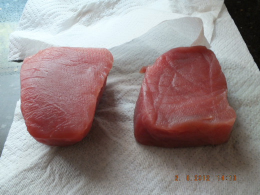 1 and 1/2 pounds of fresh wild caught tuna