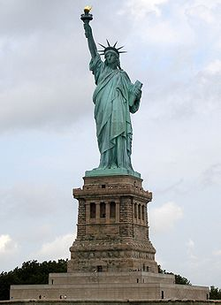 """""""Give me your tired, your poor, Your huddled masses yearning to breathe free, The wretched refuse of your teeming shore. Send these, the homeless, tempest-tost to me, I lift my lamp beside the golden door!"""" Emma Lazarus, 1883"""