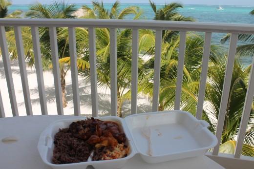 Belizean food in its natural environment.