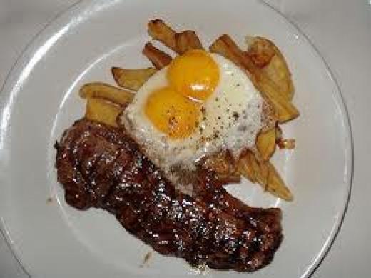 Traditional Uruguayan steak