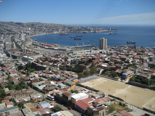 The Commercisl Port of Valparaiso, where the British General Consulate is established