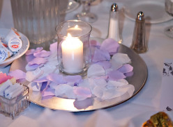 Creating Wedding Reception Table Centerpieces: How to Use Flowers, a Charger Plate and Other Materials
