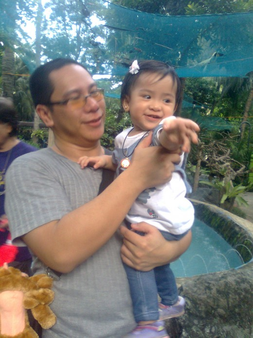 Me and my daughter at the Kinder Zoo, Manila
