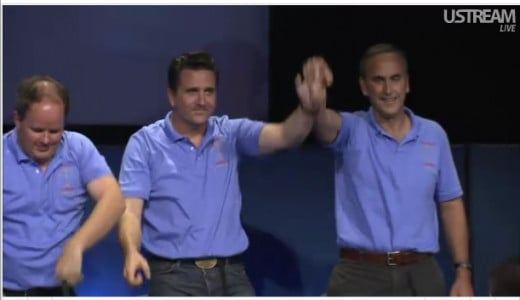 Richard Cook, Adam Steltzner, John Grotzinger of JPL