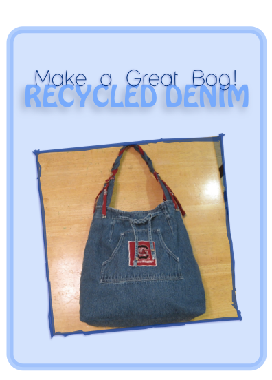 Denim Handbag From A Recycled Skirt