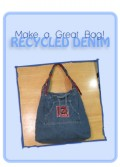 Denim Skirt Handbag Project