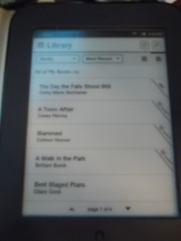 The Nook allows you to easily few your library.
