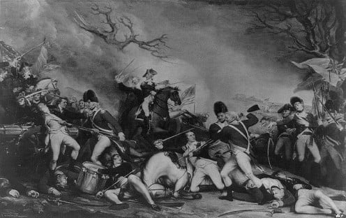 The Battle of Princeton by John Trumbull. Repository: Library of Congress Prints and Photographs Division Washington, D.C.