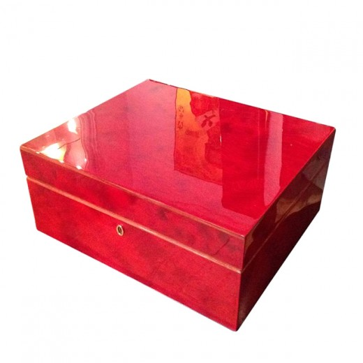 Phoenix Lacquer Art Year of the Dragon Set - includes Custom Crafted Italian Burlwood Box by Agresti
