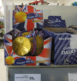 If you can't win a real gold, capitalism provides a chocolate one for a few British pounds.  Yes cost and effect. But some things are justified.