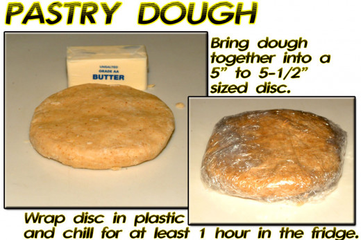Pull dough together into a disc, wrap in plastic wrap, and chill for at least 1 hour in the refrigerator.