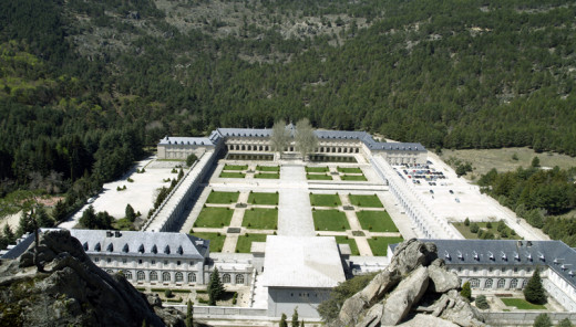 Benedictine Abbey at the Valley of the Fallen.