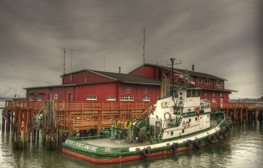 A seagoing tugboat from Portland that is moored for the weekend in Astoria, Oregon and processed through HDR software. Notice all the detail in the photo.