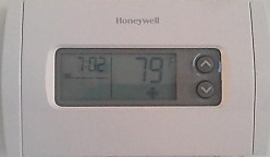 Set the thermostat between 78 and 80 degrees.