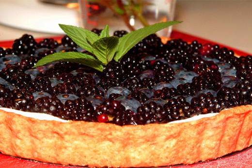 "A ""Blackberry and Blueberry Tart"" is as beautiful as it is tasty!"