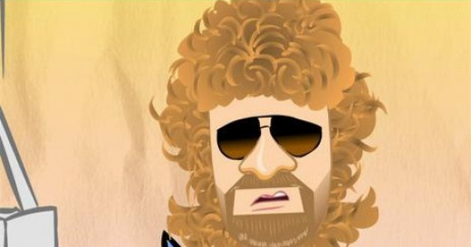 Jeff Lynne OWNS the curly hair, beard, and aviator  dark brown sunglasses thing. He owns it because of who he is and the music he created. Let me be the first to say, Sir Jeff!