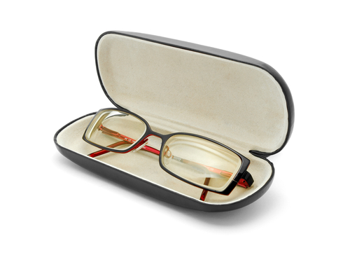 Keep glasses in a case