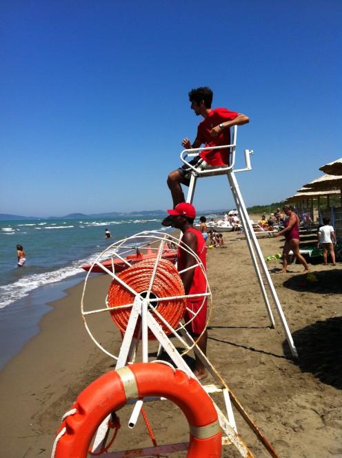 Lifeguards make the beaches safe