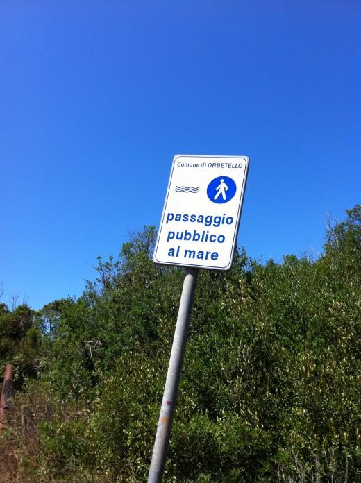 Public Footpath to the Beach