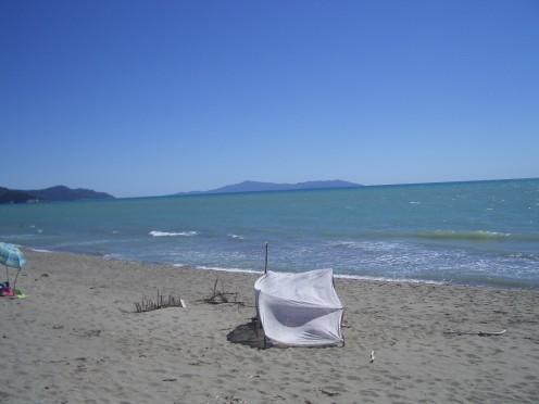 On Parco della Maremma Beach