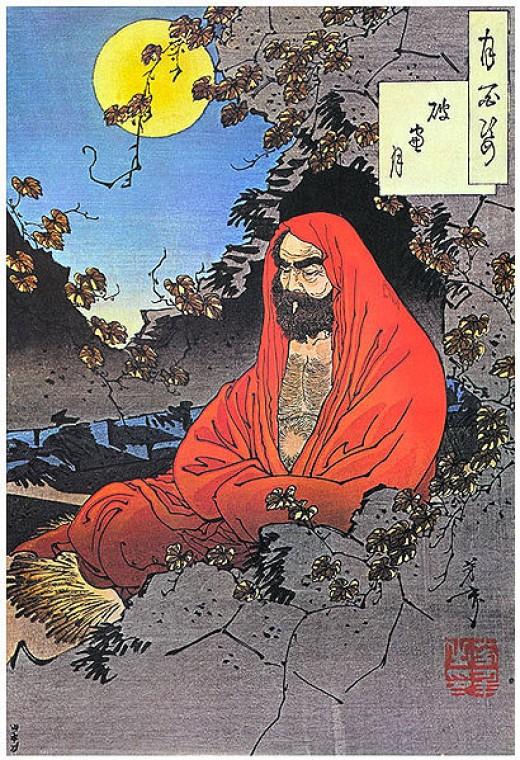 Bodhidharma in meditation