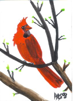 You can download and print this cheery cardinal too. Happy Holidays!