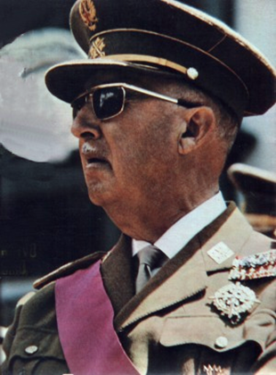 Genralisimo Francisco Franco in 1969.