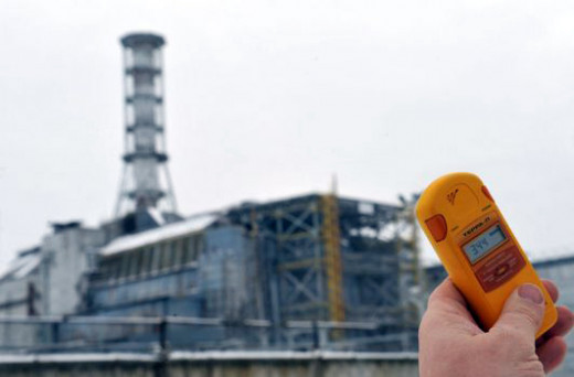 Measuring radiation levels from a distance.