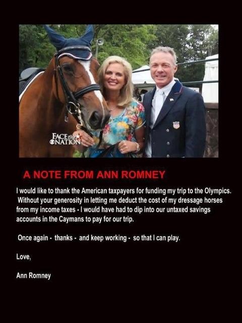 Rafalca & Ann Romney in London