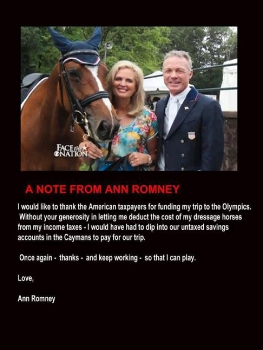 Rafalca & Ann Romney in London