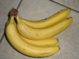 Sweet and filling, ripe bananas are caloric, so half a banana will do.  They also contain the daily dose of potassium.