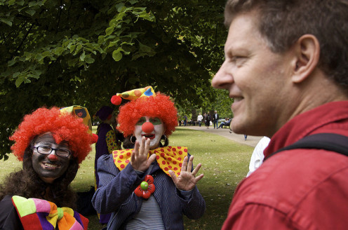 People of all ages love clowns.