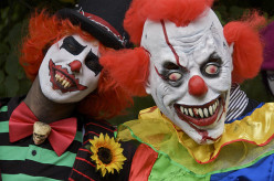 Wow, who said that all clowns are happy and jovial? These guys could star in a Stephen King movie.