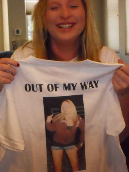 """My little sister opening what she calls her """"favorite present ever,"""" a personalized shirt made by me!"""
